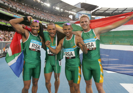 SA Track and Field relay team