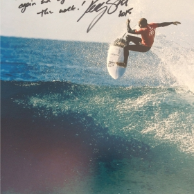 Kelly Slater Signed Pic - Back for more - again and again