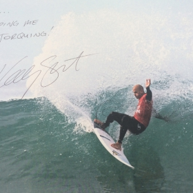 Kelly Slater Signed Pic - Keep Me TORQUING
