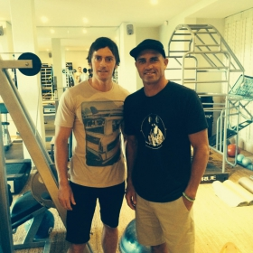 Braam working with 11 Time World Surfing Champion, Kelly Slater.