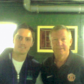 Braam with Sir Alex Ferguson, former Manager of Manchester United Football Club