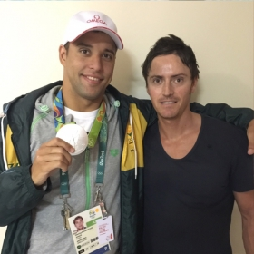 Braam Working with Olympic, Commonwealth and World Swimming Champion, Chad le Clos